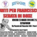 "SERATA DI BOXE, EVENTO DI BENEFICENZA: ""UNITI PER FRANCESCO"""