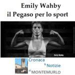 EMILY WAHBY SARÀ PREMIATA CON IL PEGASO PER LO SPORT DELLA REGIONE TOSCANA