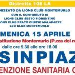 """DOMENICA 15 APRILE RITORNA LA PREVENZIONE SANITARIA GRATUITA CON I """"LIONS IN PIAZZA"""""""