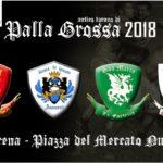 """L'annuale incontro sportivo di """"Palla Grossa"""" è tornato anche quest'anno nell'arena di Piazza Mercato Nuovo."""