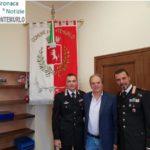 Il sindaco Lorenzini ha ricevuto il capitano Pecorella, nuovo comandante della Compagnia Carabinieri di Prato