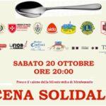 Sabato 20 ottobre Cena Sociale a Montemurlo da non perdere