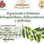 Locandina convegno 24 Novembre festa dell'olio Montemurlo