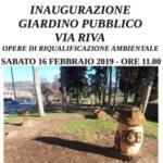 Sabato 16 febbraio l'inaugurazione del giardino di via Riva