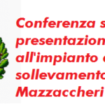 Conferenza stampa di presentazione dei lavori all'impianto di sollevamento di Mazzaccheri
