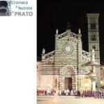 Cattedrale di Prato. Sulla destra il campanile al buio
