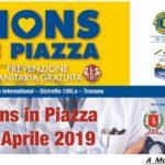 Montemurlo, 14 Aprile 2019, Manifestazione: LIONS IN PIAZZA.