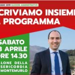 Montemurlo, scriviamo insieme il programma – sabato 13 aprile incontro della coalizione di centro-sinistra e Pd, guidata dal candidato a sindaco Simone Calamai