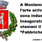 """A Montemurlo l'arte arriva nella zona industriale. Inaugurato stamani il giardino """"Fabbriche d'arte"""""""
