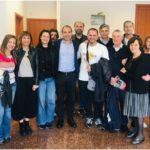 Il candidato a sindaco del centrosinistra Simone Calamai incontra i commercianti in un'assemblea organizzata da Confesercenti Prato