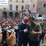 Prato, Matteo Salvini fa il pieno.