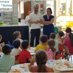 Prima visita nelle scuole per il sindaco Calamai