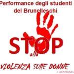 Il mese contro la violenza sulle donne si chiude con la performance degli studenti del Brunelleschi