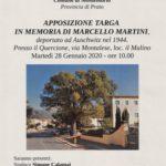 Domattina l'inaugurazione della targa in ricordo di Marcello Martini