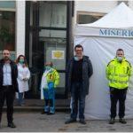 Emergenza Coronavirus, il sindaco Calamai fa visita al pre-triage della Misericordia di Montemurlo