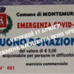 A Montemurlo scade venerdì 17 aprile alle ore 12,30 il termine per presentare la richiesta per i buoni spesa