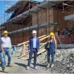 Il Covid non ferma i lavori del nuovo asilo nido a Morecci, la struttura arriva al tetto. A fine anno il completamento