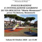 Inaugurazione del restyling del giardino di via Bolsena