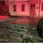 L'amore non ha lividi, a Montemurlo inaugurata una panchina rossa contro la violenza di genere
