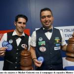Il montemurlese Michel Galeotti conquista per la seconda volta consecutiva il titolo di campione italiano di biliardo a coppie alla goriziana